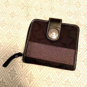 COACH Wallet Bills Coins Cards Black